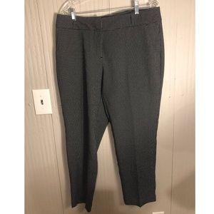Curvy Fit Slim Leg Black and White Dot Pants NWT